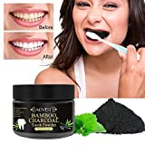 Pawaca Teeth Whitening Powder, Activated Charcoal Natural Tooth Whitener, Removes Plaque Freshens Breath, Offer You Confident Smile (50g)