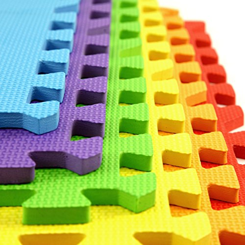 IncStores - Rainbow Foam Tiles  - 2ft x 2ft Interlocking Foa