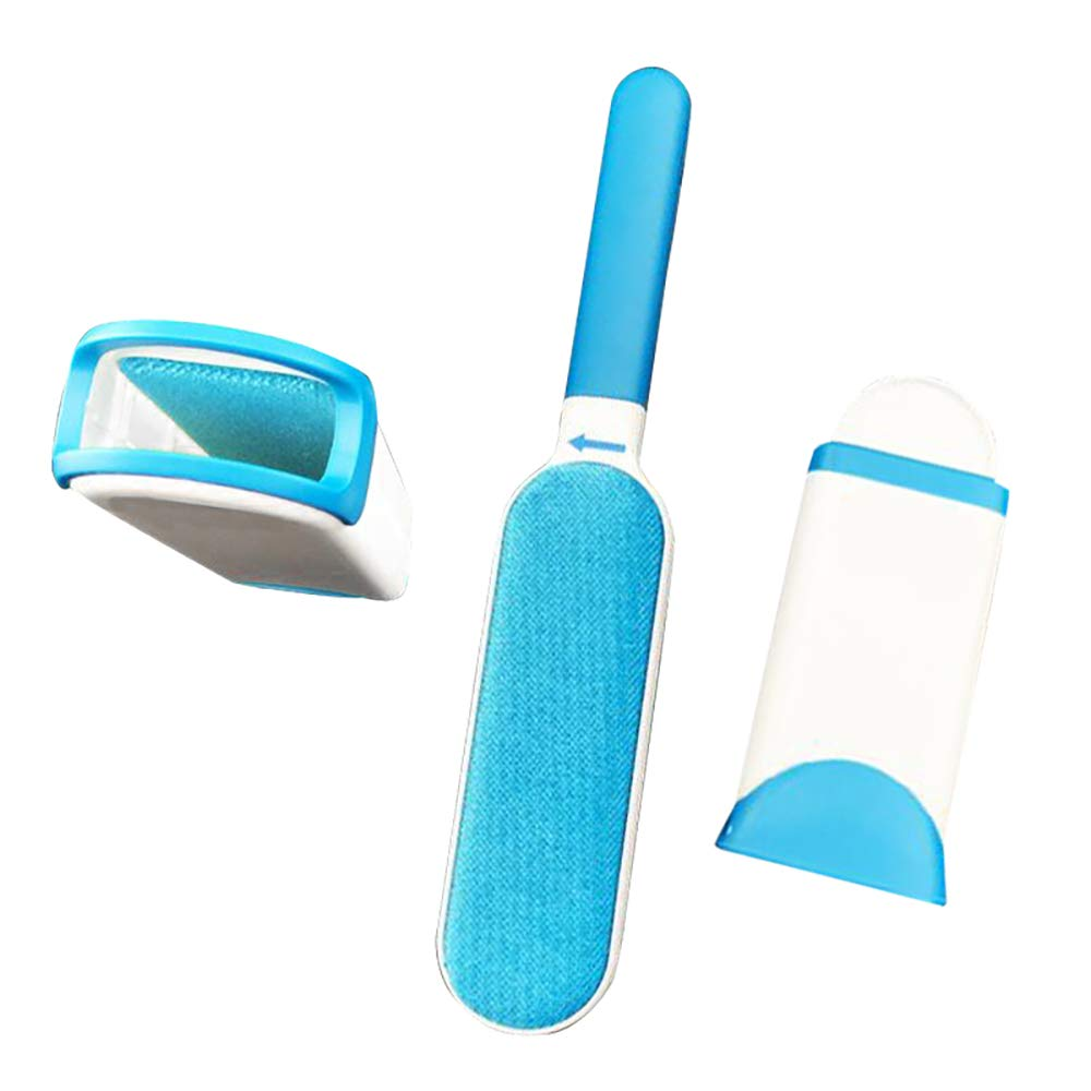 Pet Hair Fur Lint Remover with Self-Cleaning Base - Double-Sided Brush Hair Remover Pet Hair Elf for Clothing, Furniture, Home, Couch, Carpet, Bed, Car Seat - Animal Fur & Dust Removal Tool