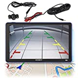 Xgody 886BT 7 Inch Capacitive Touchscreen SAT NAV Portable Car GPS Navigation Bluetooth Free Lifetime Map Updates with Rearview Backup Camera