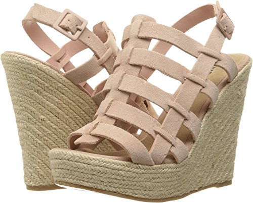 Wedges Dance (Chinese Laundry Women's Dance Party Espadrille Wedge Sandal, Rose Suede, 7.5 M US)