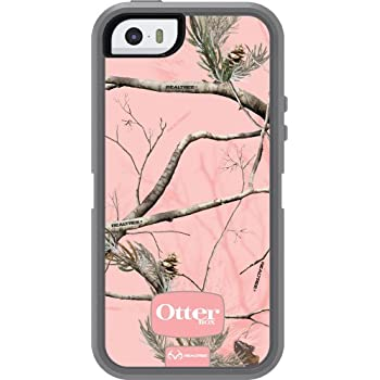 OtterBox DEFENDER SERIES Case for iPhone 5/5s/SE - Retail Packaging - REALTREE AP PINK (WHITE/GUNMETAL GREY/AP PINK DESIGN)