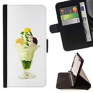 Momo Phone Case / Flip Funda de Cuero Case Cover - Helado delicioso divertido - LG G3