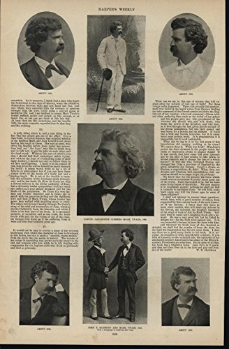 Samuel Clemens or Mark Twain Portraits c.1900 antique photographic - Antique Portrait 1900