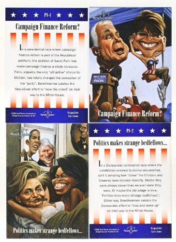 bama McCain Clinton 2008 Benchwarmer Political 2 Card Set (Mccain Palin 2008)