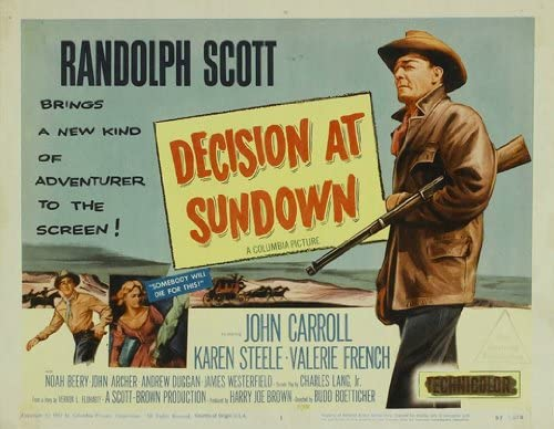 Decision At Sundown Poster Movie 11 x 14 In - 28cm x 36cm Randolph ...