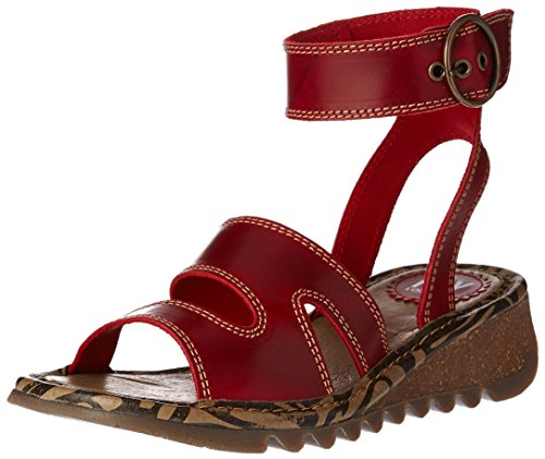 FLYA4|#Fly London Tily722fly, Heels Sandals para Mujer Rojo (Red 003)