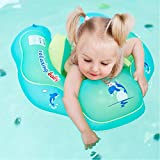 JT JUSTIME Baby Swimming Float,Children Waist Inflatable Swimming Ring with double-decked safety floating Backrest and Strap,Baby Swimming Pool Toys and Pools Swim Trainer for 6-30 months baby.