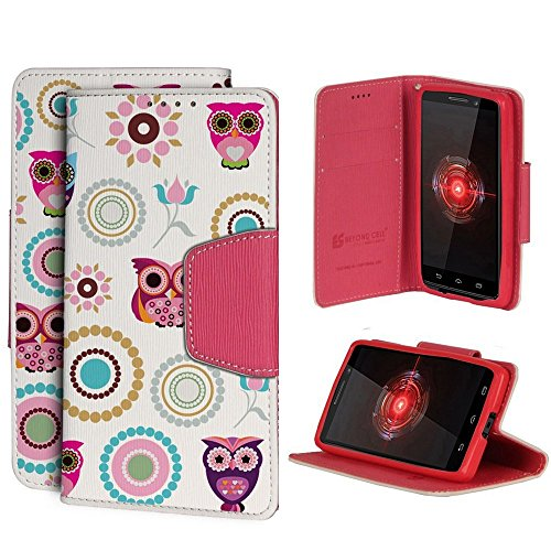 Infolio For Moto Droid Mini XT1030 PU Leather TPU Case Card Slot Bill Fold Magnetic Flap Owl Circle Collage