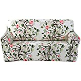 FORCHEER Loveseat Slipcover Stretch Sofa Cover for Living Room Couch Cover Sectional (Loveseat,#Floral)