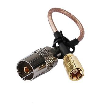 15 cm RF coaxial adaptador Asamblea Cable eléctrico SMB enchufe a DVB-T TV Jack
