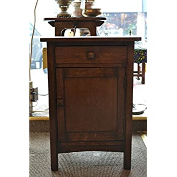 Crafters And Weavers Arts And Crafts Mission Oak Night Stand End Table