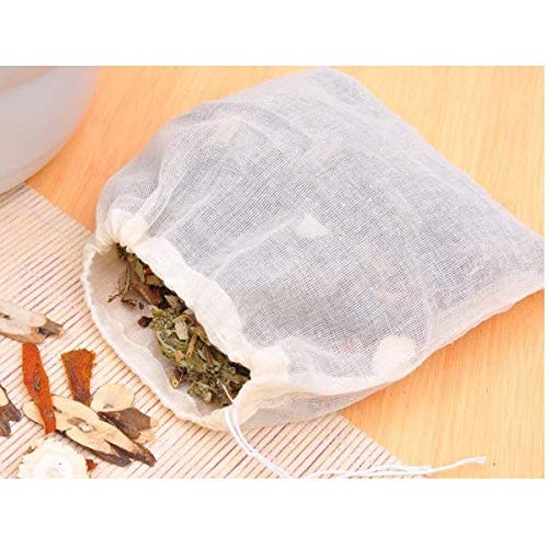 FidgetGear 10/100 Pack Cotton Muslin Drawstring Bags Soap Herbs Tea Reusable Packing Bath 10''x12'' 100 by FidgetGear (Image #5)