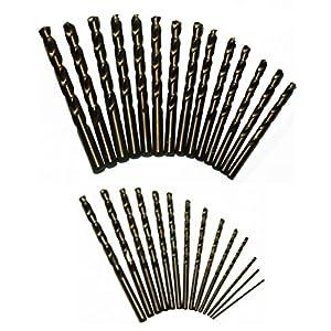 Drill America 29 Piece M35 Cobalt Drill Bit Set in Round Case (1/16