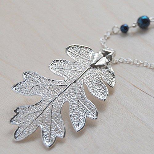 pressed leaf necklace - 4