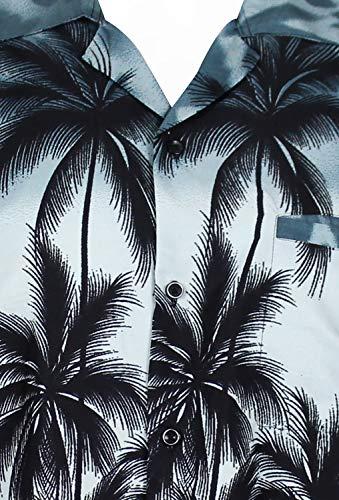 avant Couleurs Poche King Funky Gris Hawaïenne Kameha Plage Xs Chemise Hommes Manche Hawaiian 12xl Variées courte imprimer Palmiers wfRHqU