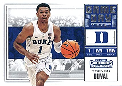 ec051eca19cf 2018-19 Panini Contenders Draft Picks Game Day Tickets  22 Trevon Duval  Duke Blue