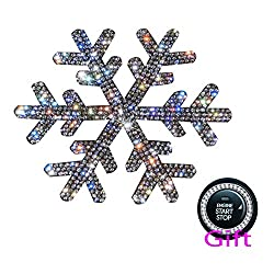 Crystal Snowflake Car Interior Stickers + Gift