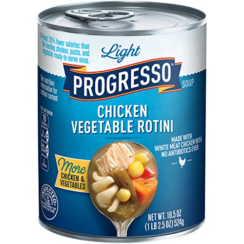 (Progresso Soup, Low Fat Light, Chicken Vegetable Rotini Soup, 18.5 oz Cans)