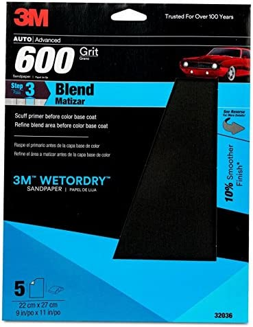 Pack of 5 3M 32036 Imperial Wetordry 9x11-Inch P600 Grit Sheet