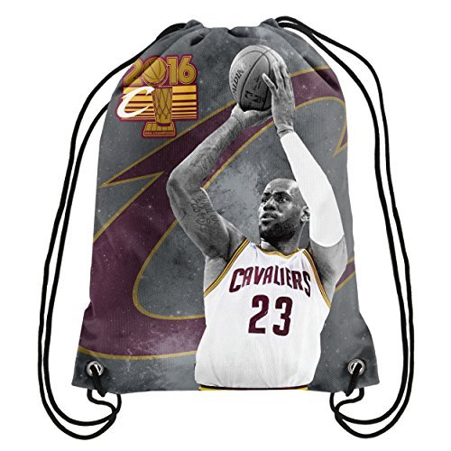 FOCO NBA Cleveland Cavaliers James L. #23 2016 Champions Drawstring Backpack Sports Fan Home Decor, Red, One Size by FOCO