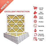 10x10x1 MERV 11 ( MPR 1000 ) Pleated AC Furnace Air Filter - 6 Pack