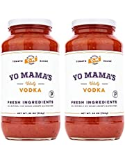 Keto Vodka Pasta Sauce by Yo Mama's Foods - Pack of (2) - No Sugar Added, Low Carb, Low Sodium, Gluten Free, Paleo Friendly, and Made with Whole, Non-GMO Tomatoes