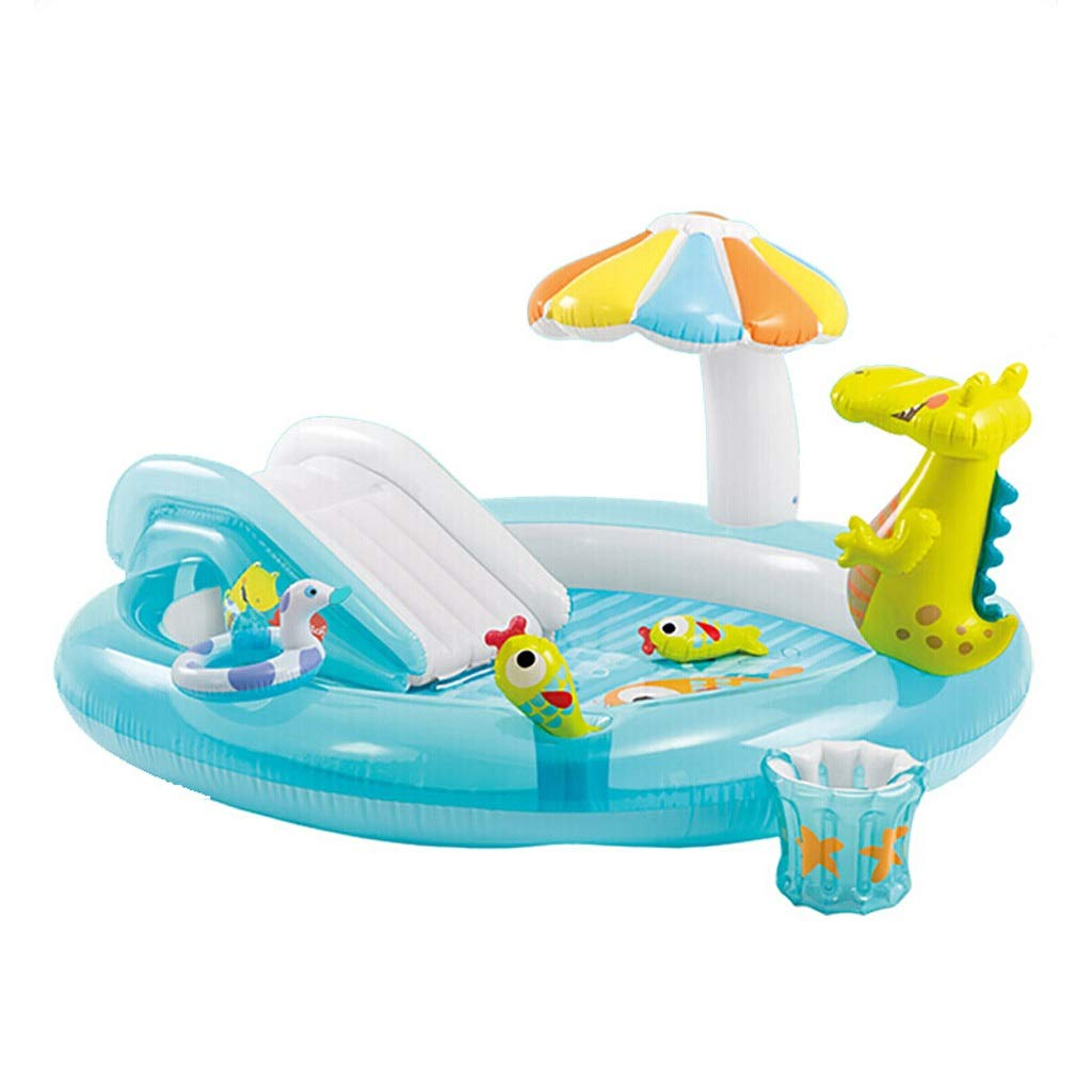 YANFEI YANFEI屋内家族ワニスプレープール、インフレータブル玩具、ウォータースプレー、スライド、オレンジ、203 * 89 cm   B07Q9L964X
