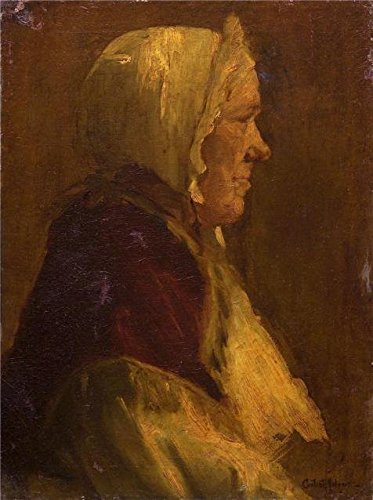 Oil Painting 'Content Aline Johnson,Head Of Old Woman,ca.1906-1914' Printing On High Quality Polyster Canvas , 18x24 Inch / 46x61 Cm ,the Best Gift For Girl Friend And Boy Friend And Home Decor And Gifts Is This Vivid Art Decorative Canvas Prints