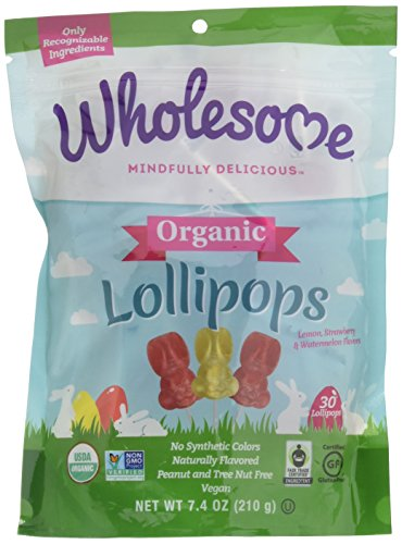 Wholesome Organic Bunny Lollipops, 7.4 oz, Single Unit ()