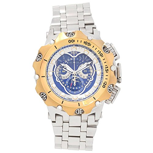 Invicta Venom Chronograph Blue Dial Stainless Steel Mens Watch 16808 ()