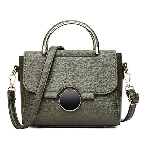 GWQGZ La Nueva Moda Dama Bolso Es Simple Dulce Único Hombro Y Sesgar Spanning Bolsa Negro. Green