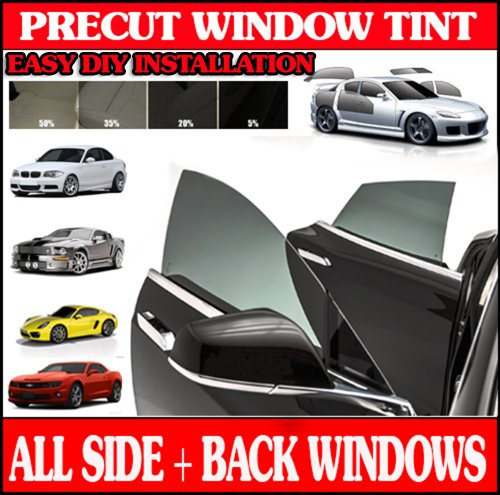 Mitsubishi Mirage 4 Door (Precut Window Tint Kit For Mitsubishi Mirage 4 Door Hatch 2014)