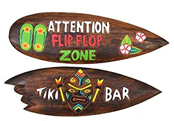 2 Decoración Tablas de Surf 60cm Im Tiki Hawaii Estilo Tabla de Surf en el 2er