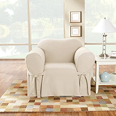 SureFit Cotton Duck - Chair Slipcover - Natural (SF26806)