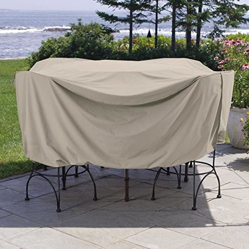 Weather Wrap Round Pub Height Table & Chairs Cover (Patio Pub Table And Chairs)
