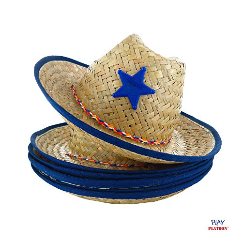 Dozen Straw Cowboy Hats for Kids - Makes Great Birthday Party Hats for Boys  and Girls bb3582ab2889