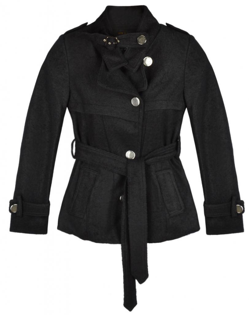 Eyekepper Women OL's Slim Fit Stand Color Wool Coat Outwear With Belt
