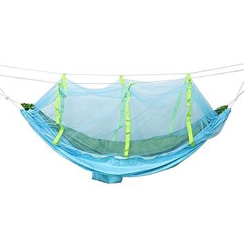perfk 1 Psc Hamaca Colgante con Mosquitera Seguridad de Insectos Multiusos para Picnic Barbacoa Comodo -