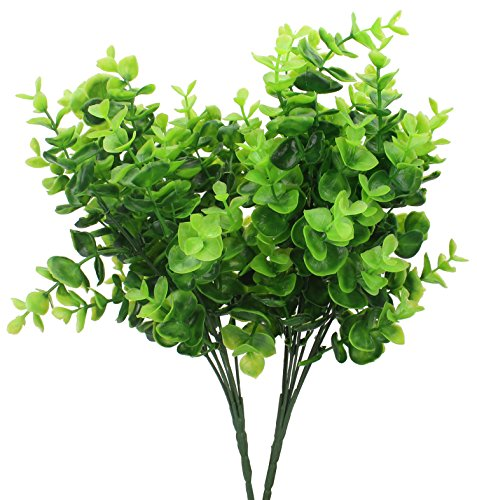 Duovlo 4 Piece Faux Eucalyptus Grass Leaves Greenery Plan...