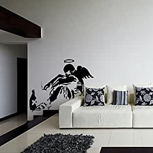 28 39 39 x 23 39 39 banksy vinyl wall decal giant for Wall stickers roma