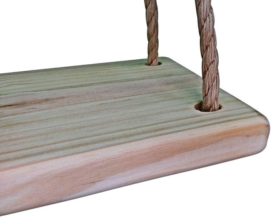 Deluxe 4 Hole Wooden Tree Swing