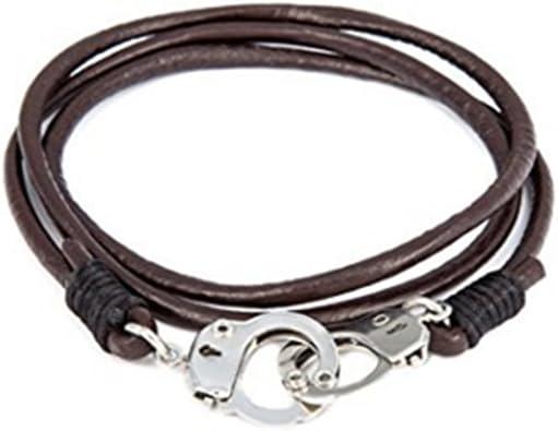 bracelet cuir menotte