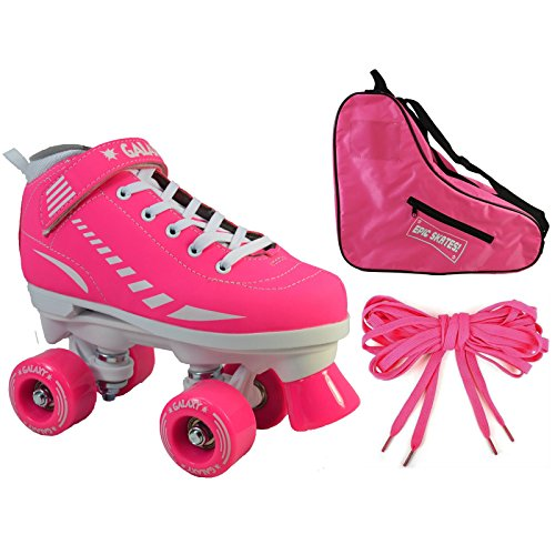 Epic Skates Epic Pink Galaxy Elite Quad Roller Skate 3-piece Bundle 2 by Epic Skates