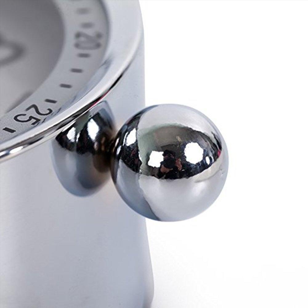 Cs-ac06 10,2/cm Ultra Silencieux en m/étal classique Petit R/éveil horloge /à quartz de style r/étro bureau Armoire Table de chevet R/éveil de voyage