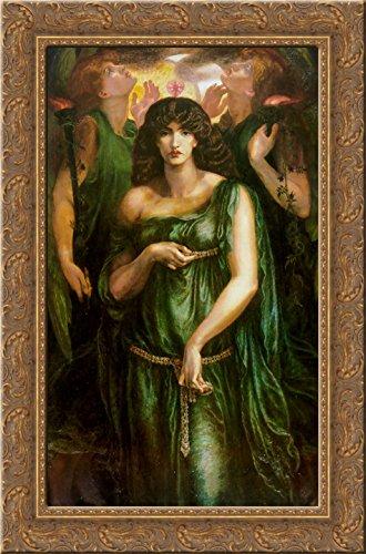Astarte Syriaca 24x16 Gold Ornate Wood Framed Canvas Art by Dante Gabriel Rossetti