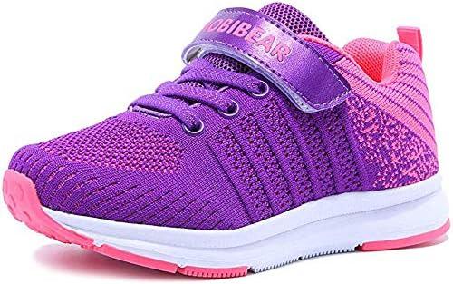 Mitudidi Turnschuhe Mädchen Schuhe 29 Sportschuhe Laufschuhe Hallenschuhe Leicht Atmungsaktiv Outdoor Fitnessschuhe Sneaker Lila Kinderschuhe für Unisex-Kinder
