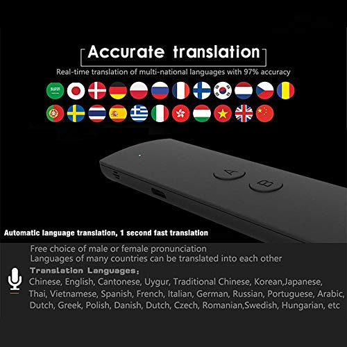 Layopo Language Translator Device, Portable Voice Translator,Support 41 Languages for Learning Travelling Business Meeting by Layopo (Image #2)