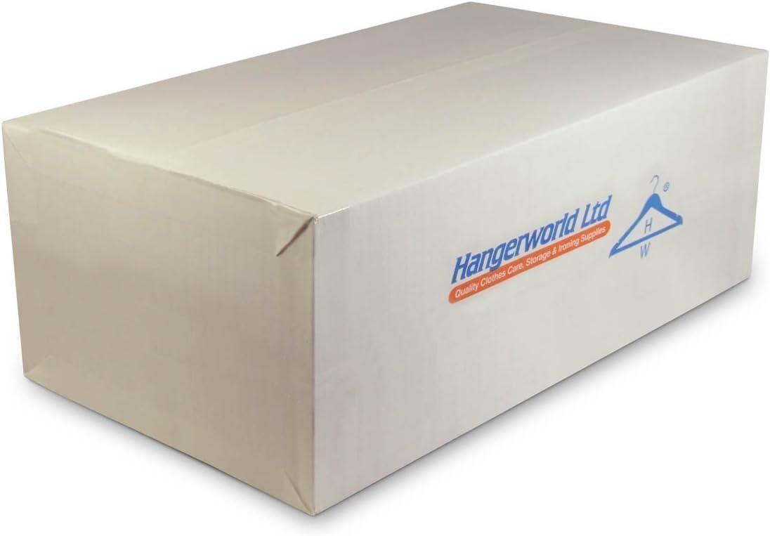 Hangerworld 100 Perchas 49cm Pl/ástico Curvado para Mantener la Forma de Chaquetas Camisas y Blusas