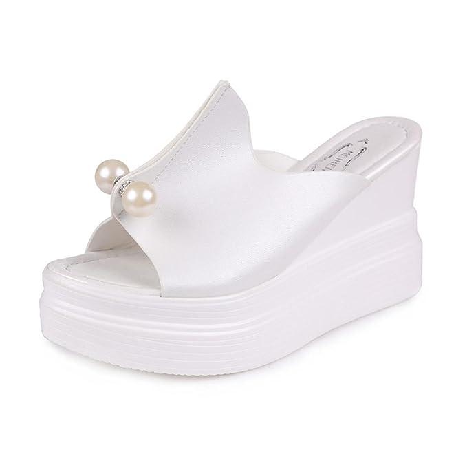 ed7a6a9fbc2660 LiucheHD Sandali Donna Pantofole Con Tacco Alto Slip-Flop Sandali Con zeppa  Estivi Boemo Scarpe